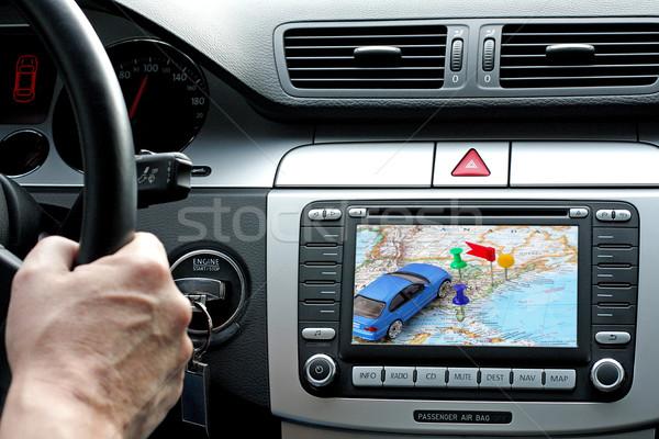 путешествия GPS автомобилей приборная панель панель технологий Сток-фото © kaczor58