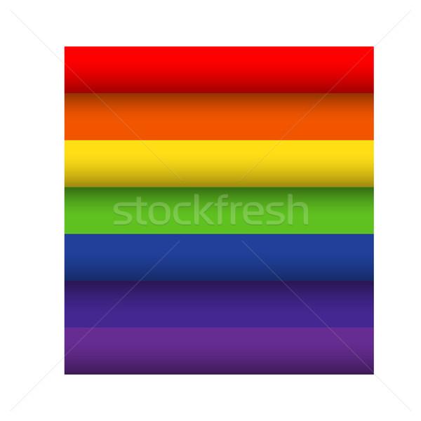 インフォグラフィック カラフル 虹 紙 ストライプ バナー ストックフォト © kaikoro_kgd