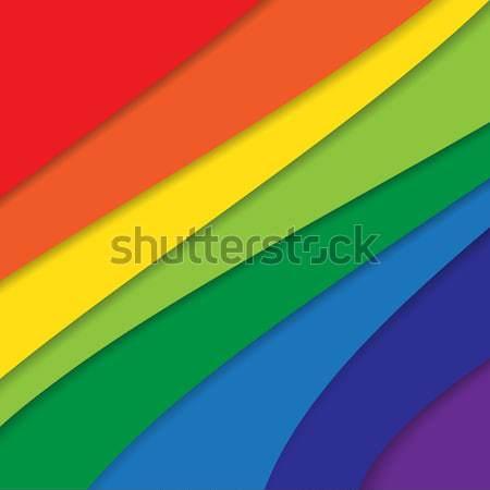 抽象的な 17 カラフル 虹 ビジネス デザイン ストックフォト © kaikoro_kgd