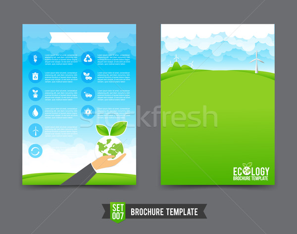 Flyer Brochure background template 0007 Ecology concept Stock photo © kaikoro_kgd
