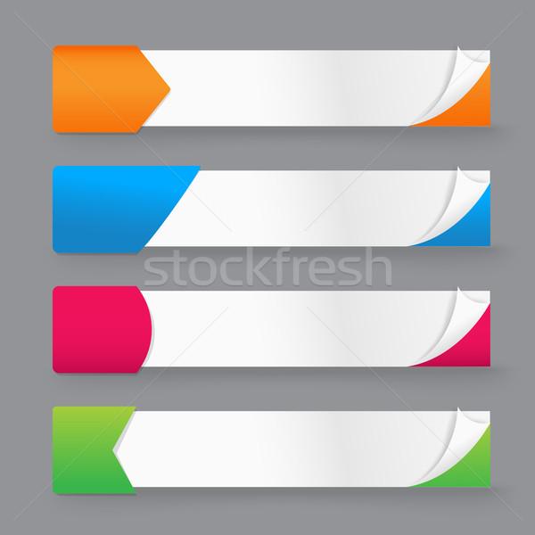 紙 タグ バナー オープン コーナー テンプレート ストックフォト © kaikoro_kgd