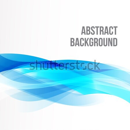 Abstract background light blue curve and wave element vector ill Stock photo © kaikoro_kgd