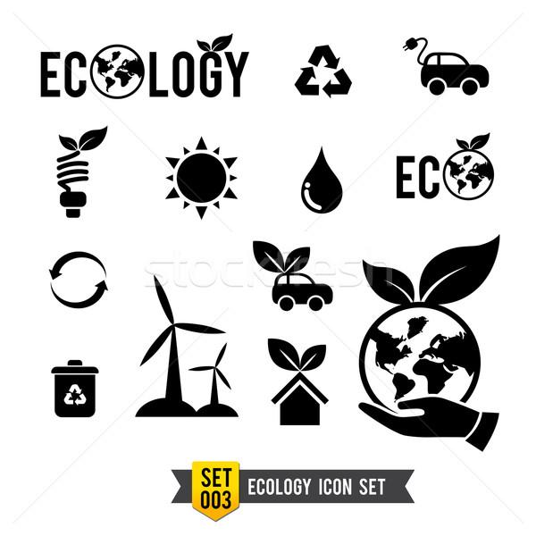 生態学 アイコン コレクション 孤立した エコ ストックフォト © kaikoro_kgd