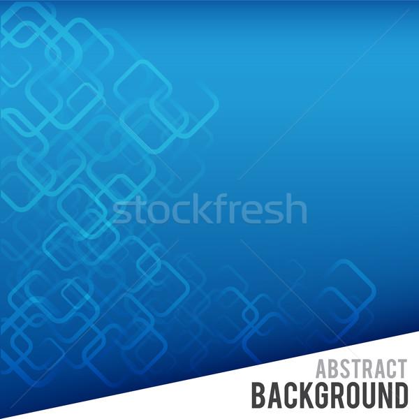 抽象的な 青 コーナー 長方形 デザイン フレーム ストックフォト © kaikoro_kgd
