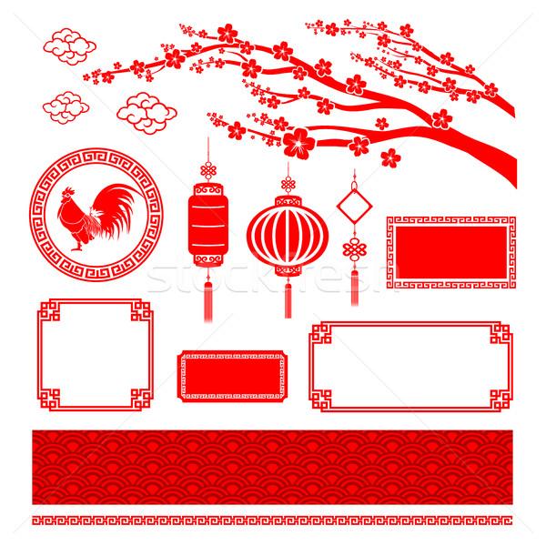 中国語 スタイル 芸術 フレーム デザイン ストックフォト © kaikoro_kgd