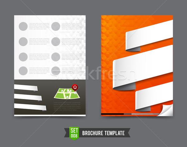 チラシ パンフレット テンプレート フレーム 印刷 企業 ストックフォト © kaikoro_kgd