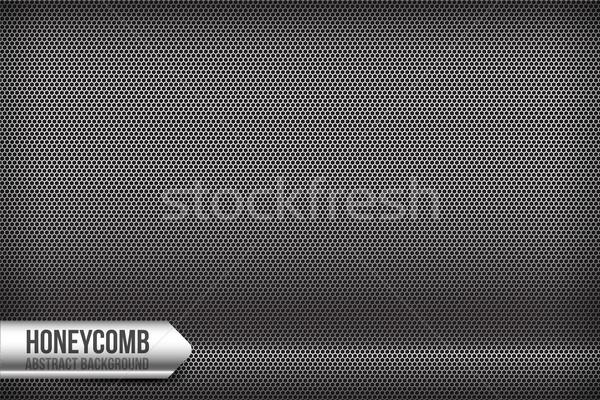 Plaster miodu chrom szary streszczenie tekstury tle Zdjęcia stock © kaikoro_kgd
