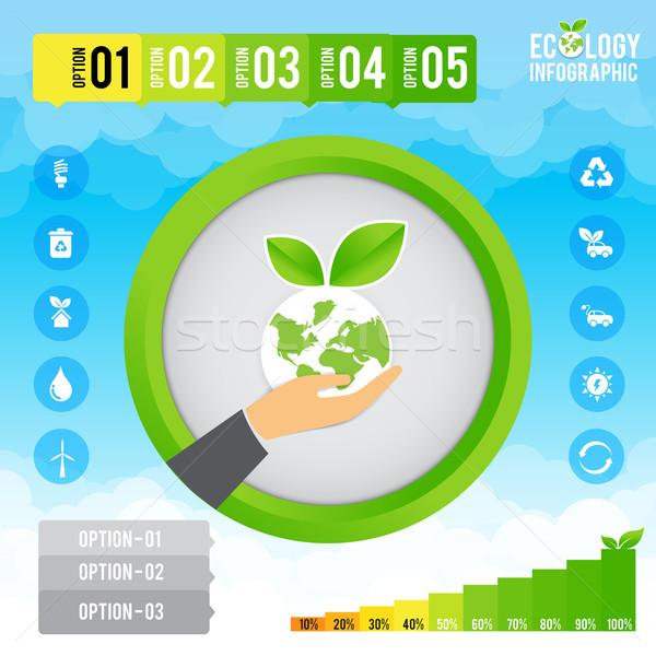 生態学 インフォグラフィック プレゼンテーション エコ テンプレート ビジネス ストックフォト © kaikoro_kgd