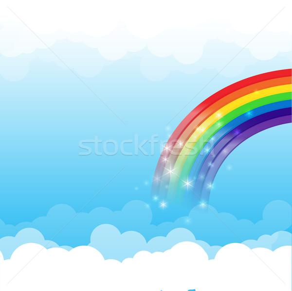 ストックフォト: 虹 · 雲 · 空 · 青空 · 春 · 光