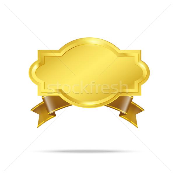 Premium Gold badge tag banner Stock photo © kaikoro_kgd