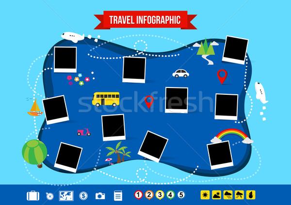 Travel infographic Stock photo © kaikoro_kgd
