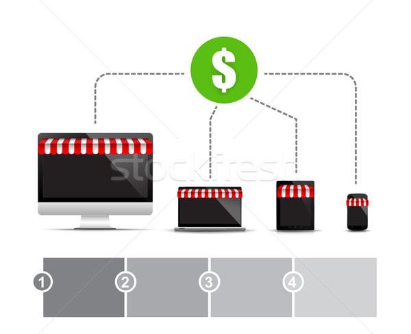 Zdjęcia stock: Sklep · pc · notebooka · laptop · smart · telefonu · komórkowego