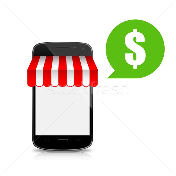 ショップ 携帯 スマートフォン 孤立した 白 ウェブ ストックフォト © kaikoro_kgd