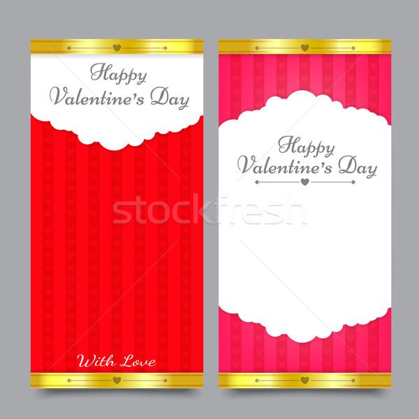Sevgililer günü kart şablon mutlu Stok fotoğraf © kaikoro_kgd