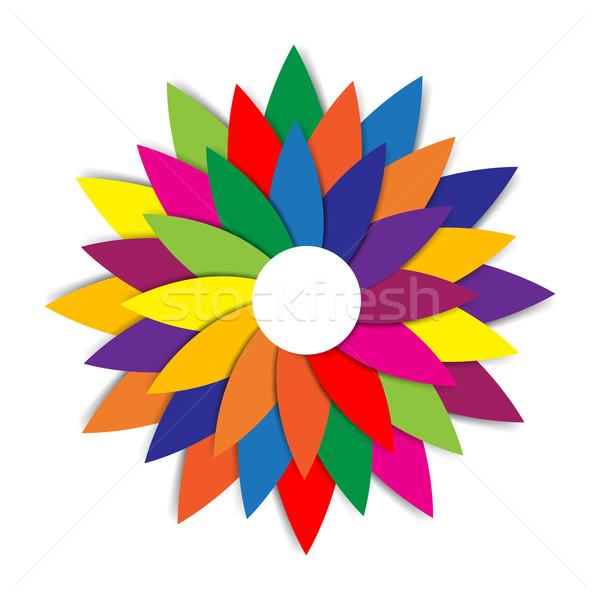 Resumen colorido arco iris geometría forma objeto Foto stock © kaikoro_kgd
