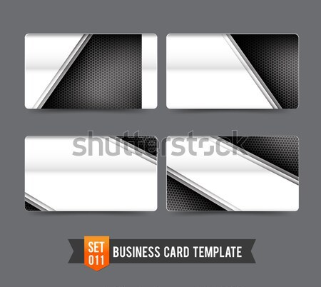 Collection of banner set - metallic steel and honeycomb element  Stock photo © kaikoro_kgd