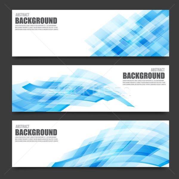抽象的な 水色 バナー 明るい 光 テクスチャ ストックフォト © kaikoro_kgd