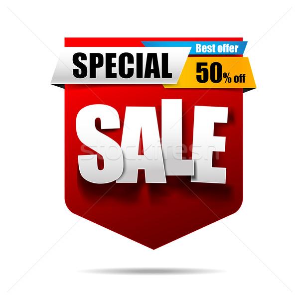 Satış metin etiket afiş beyaz iş Stok fotoğraf © kaikoro_kgd