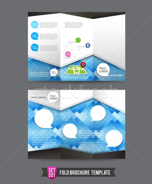 Fold Brochure background template 0001 Stock photo © kaikoro_kgd