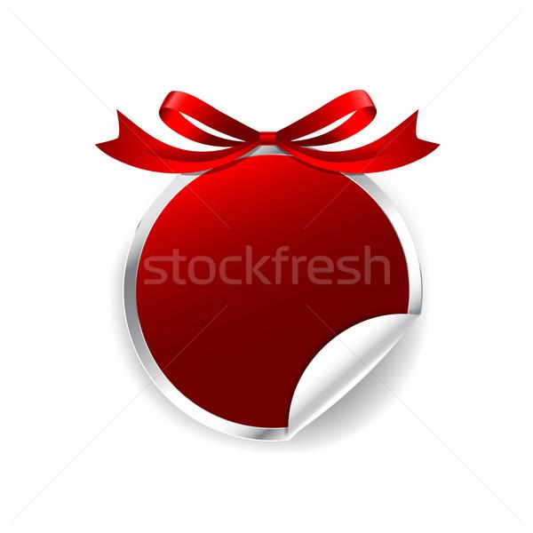 タグ バナー 赤 サークル 現代 バッジ ストックフォト © kaikoro_kgd