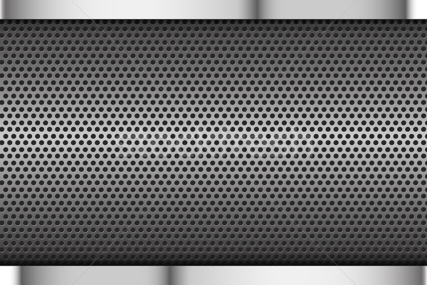 Chrome noir gris texture fond métal Photo stock © kaikoro_kgd