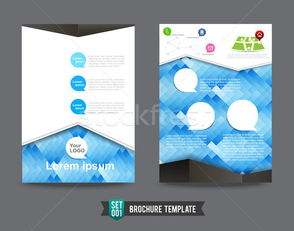 Flyer Brochure background template 0001 Stock photo © kaikoro_kgd