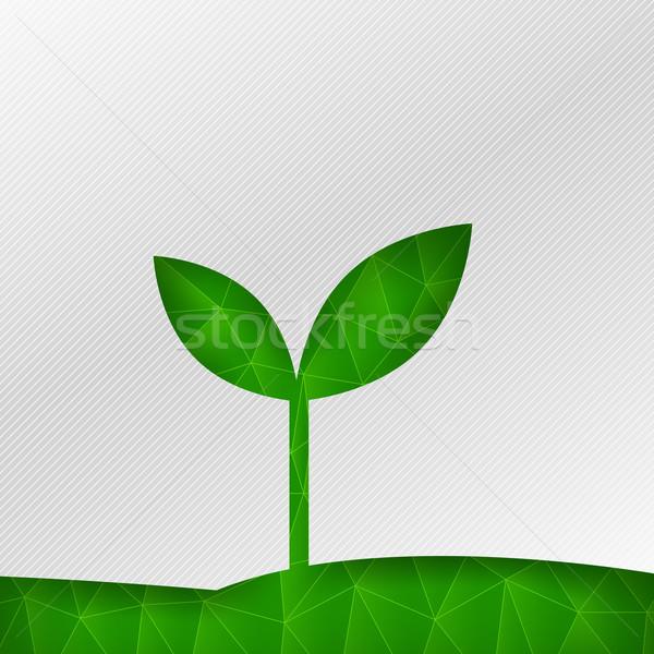 аннотация экология зеленый многоугольник элемент фон Сток-фото © kaikoro_kgd