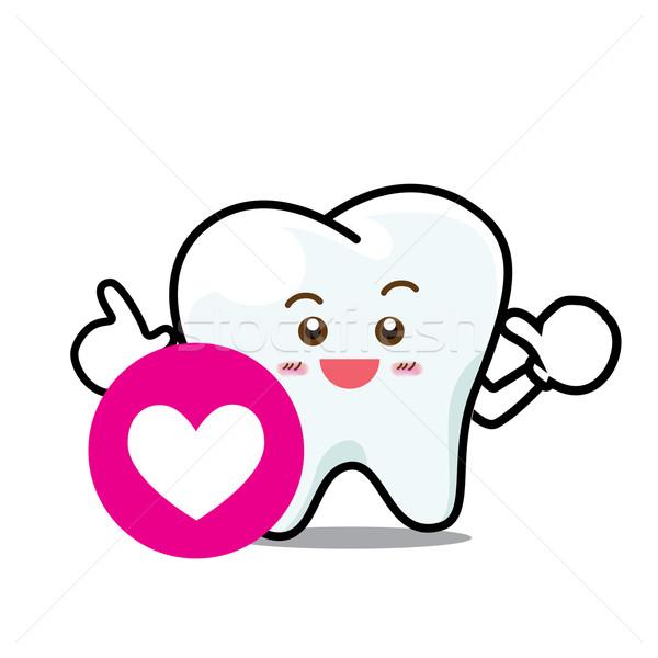 幸せ 歯科 笑顔 歯 マスコット ストックフォト © kaikoro_kgd