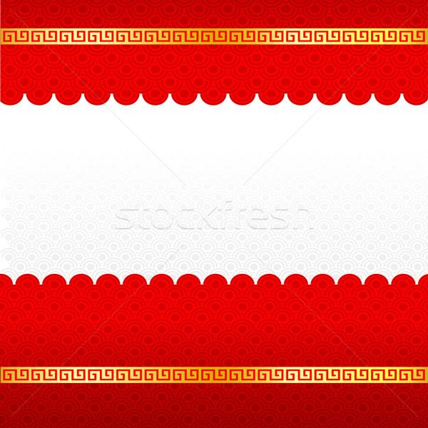 旧正月 抽象的な 中国語 赤 金 国境 ストックフォト © kaikoro_kgd