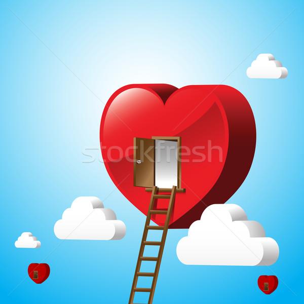 Just open heart happy valentine day 001 Stock photo © kaikoro_kgd