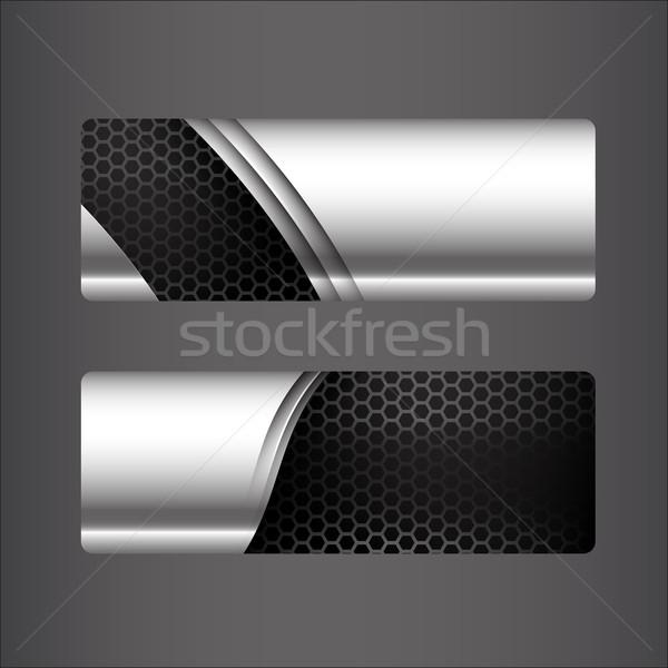 コレクション バナー セット メタリック 鋼 ハニカム ストックフォト © kaikoro_kgd