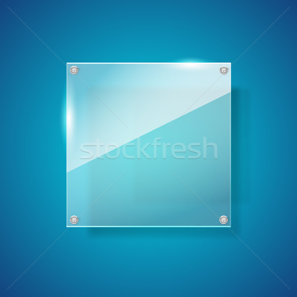 Abstract gross shiny glass on blue background Stock photo © kaikoro_kgd