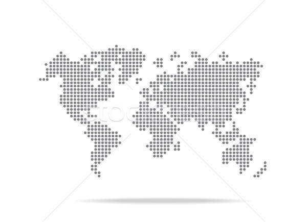 Nokta dünya haritası yalıtılmış beyaz dünya dünya Stok fotoğraf © kaikoro_kgd