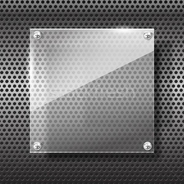 クロム 黒 グレー テクスチャ 背景 金属 ストックフォト © kaikoro_kgd