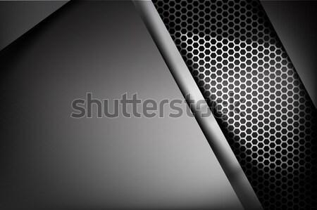 Metálico acero panal elemento textura pintura Foto stock © kaikoro_kgd