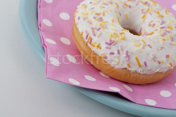 Stockfoto: Donut · icing · gekleurd · roze