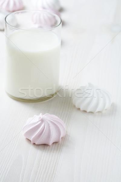 Stock fotó: Tej · közelkép · üveg · fény · fa · asztal · felület