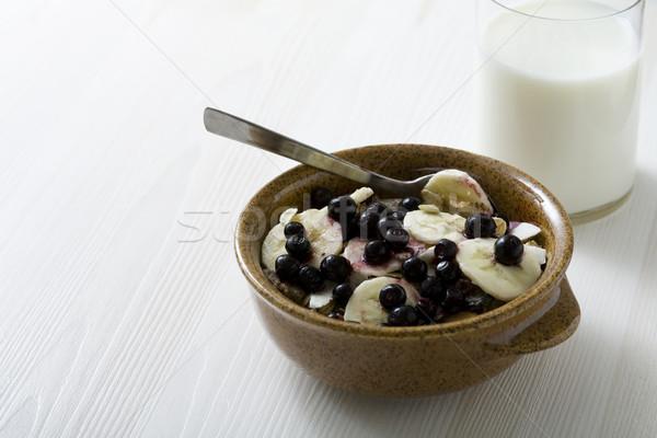 健康 朝食 クローズアップ ボウル ミューズリー 新鮮な ストックフォト © Kajura
