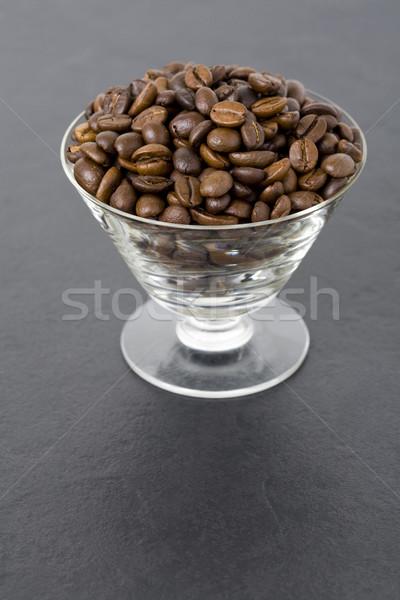 Roasted coffee beans in glass Stock photo © Kajura