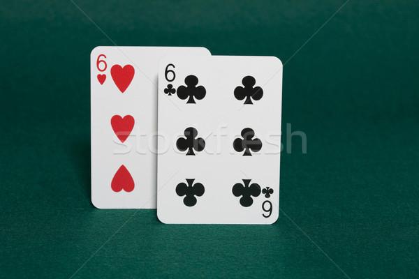 Bolsillo primer plano mano póquer ruta 66 horizontal Foto stock © Kajura