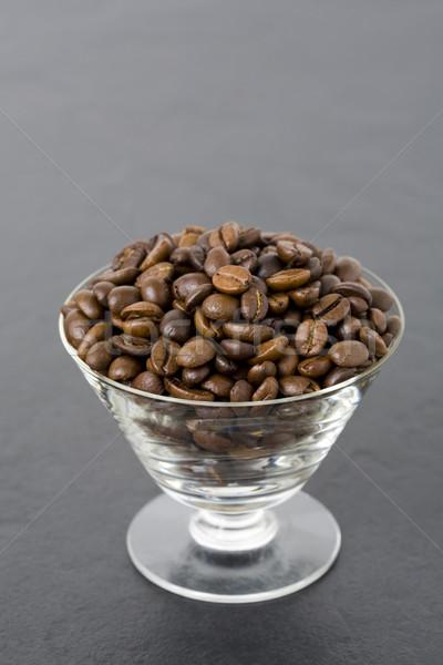 Kahve çekirdekleri cam taze espresso Stok fotoğraf © Kajura