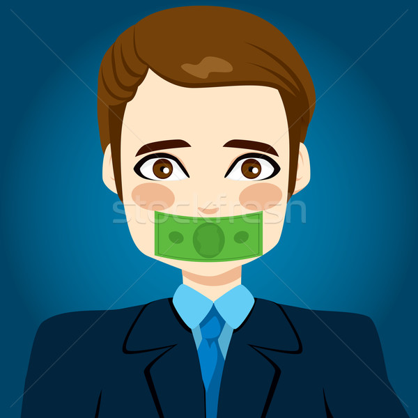 Money Silenced Businessman Stock photo © Kakigori