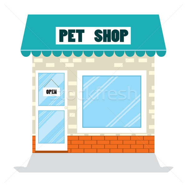 Pet Shop Flat Store Stock photo © Kakigori