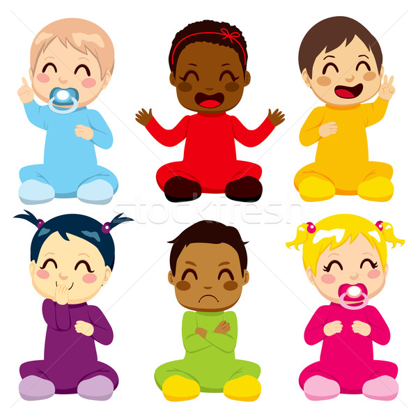 Multi-ethnic Baby Kids Stock photo © Kakigori