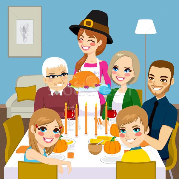Thanksgiving Family Dinner Stock photo © Kakigori
