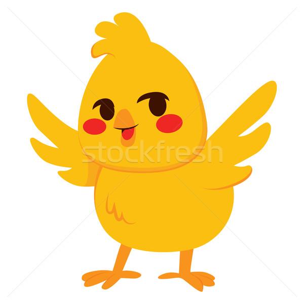 Weinig chick illustratie cute gelukkig geïsoleerd Stockfoto © Kakigori