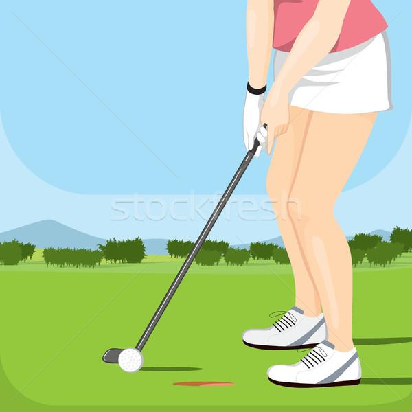 мяч для гольфа женщины игрок играет спорт клуба Сток-фото © Kakigori