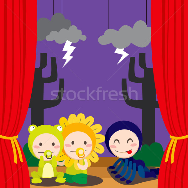 Cute Scary Theater Stock photo © Kakigori