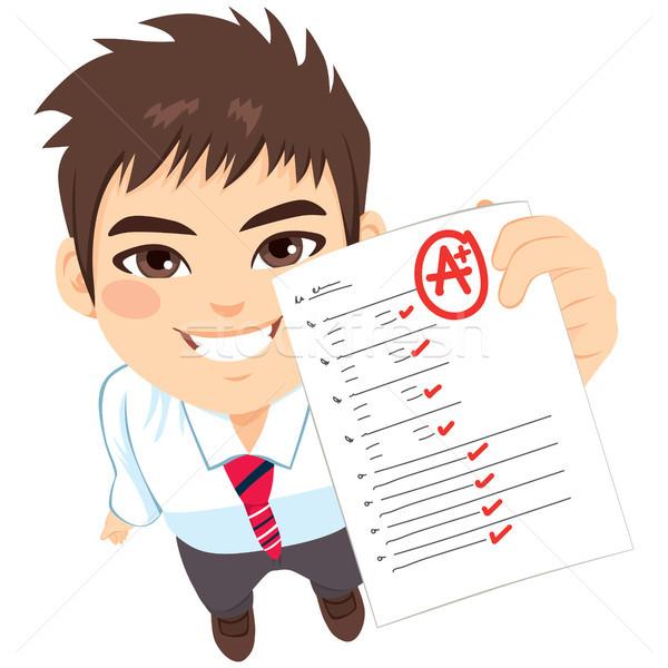 Student Boy A Exam Result Stock photo © Kakigori