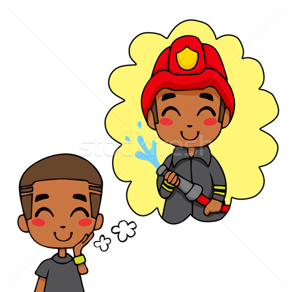 Stock photo: Cute Fireman Boy